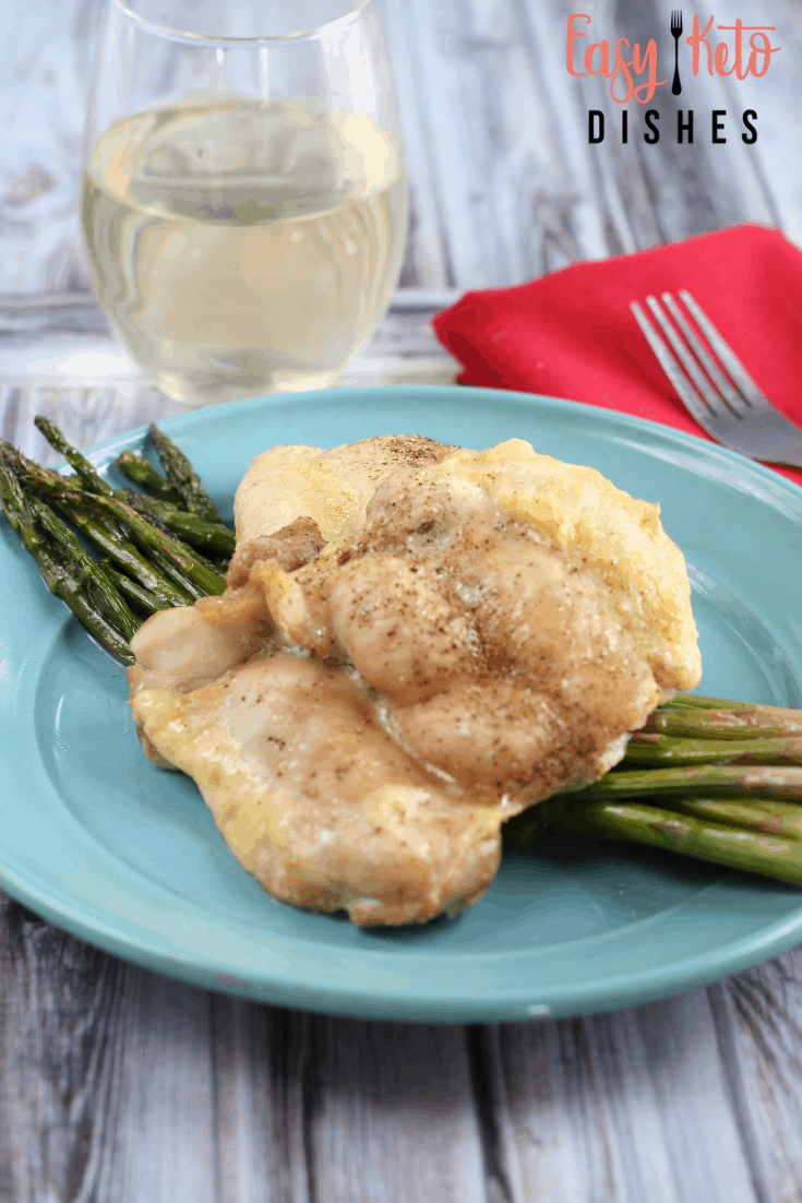 sheet pan dinner with asparagus and chicken thighs keto friendly
