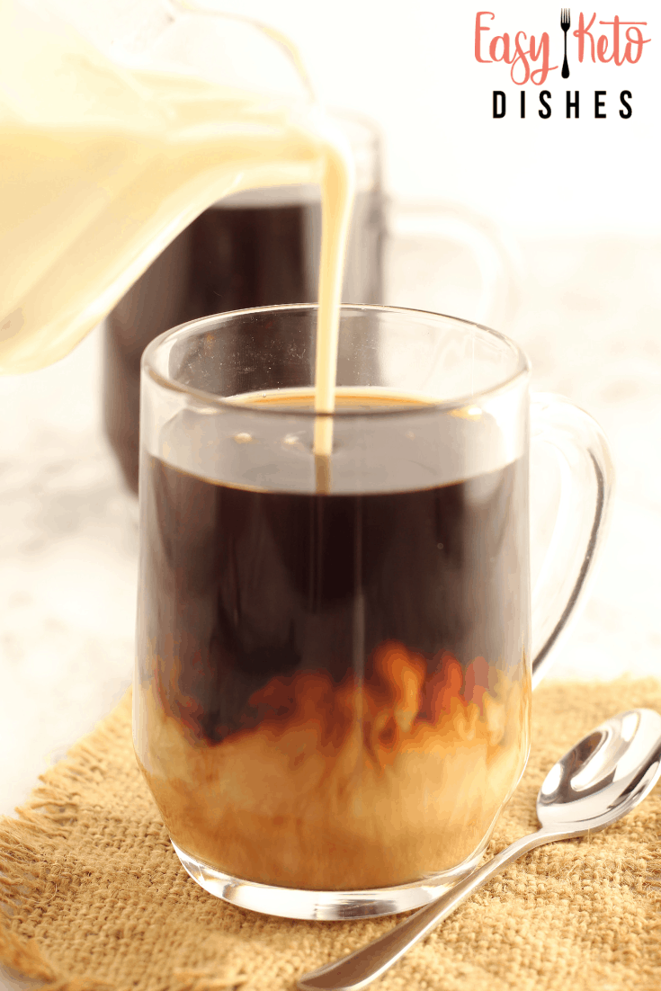 coffee with homemade french vanilla creamer