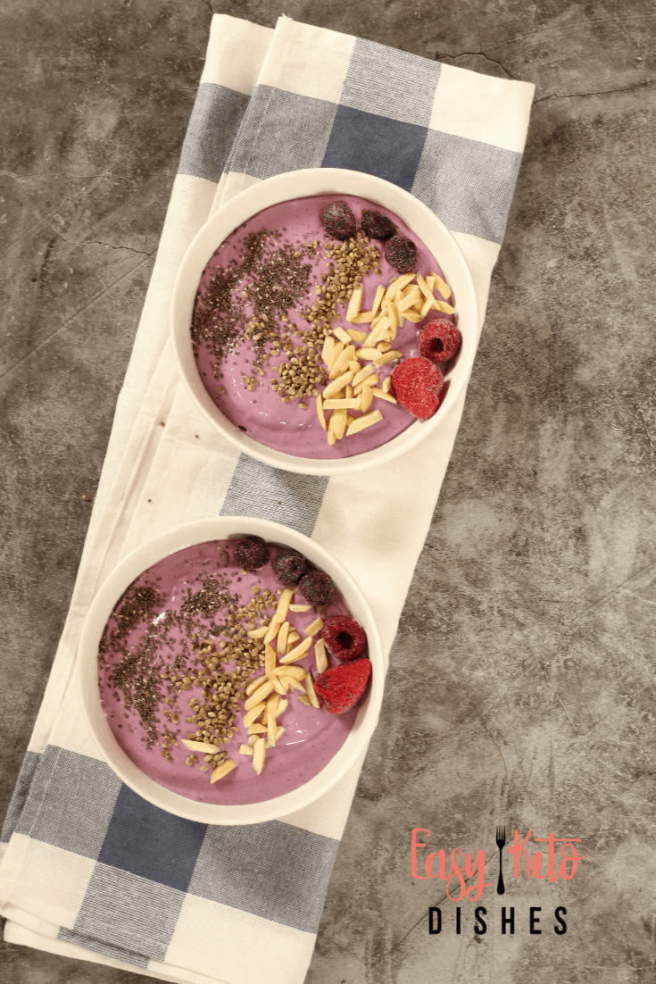 keto smoothie bowls with toppings
