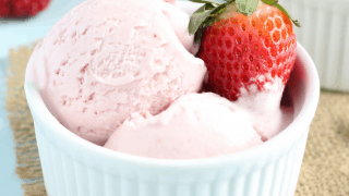 Dairy Free Coconut Strawberry Ice Cream