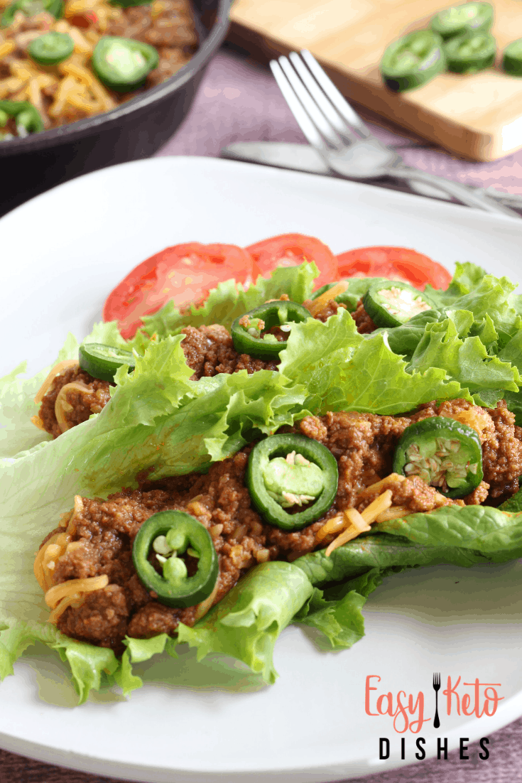 sloppy joe on lettuce wrap