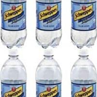 Schweppes Club Soda, 33.8 Oz Bottle (Pack of 6, Total of 202.8 Oz)