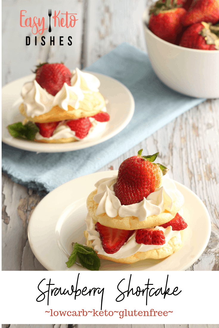 gluten free strawberry shortcakes on white plates