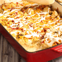 Chicken Bacon Ranch Casserole (keto, low carb)