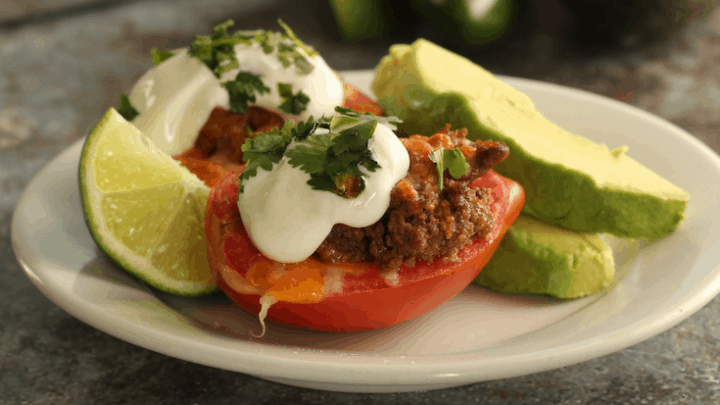 Taco Stuffed Tomatoes-Low Carb