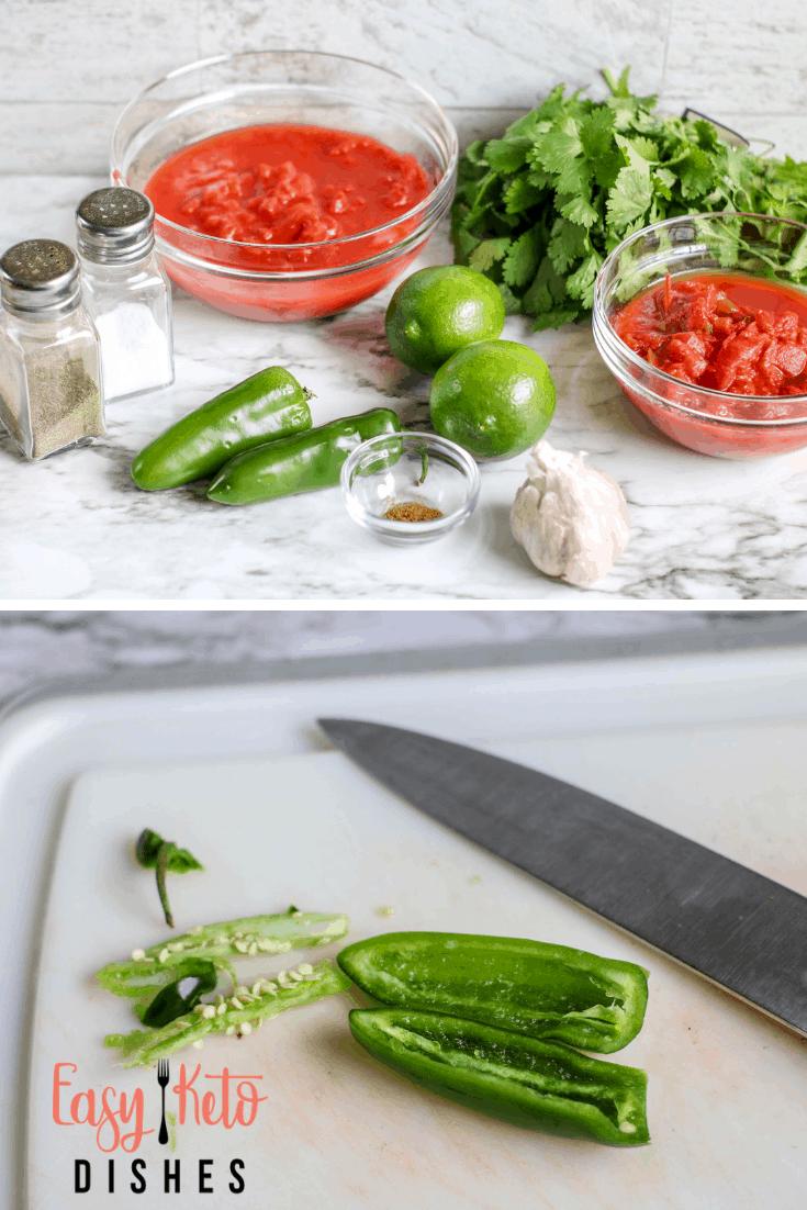 making restaurant style salsa