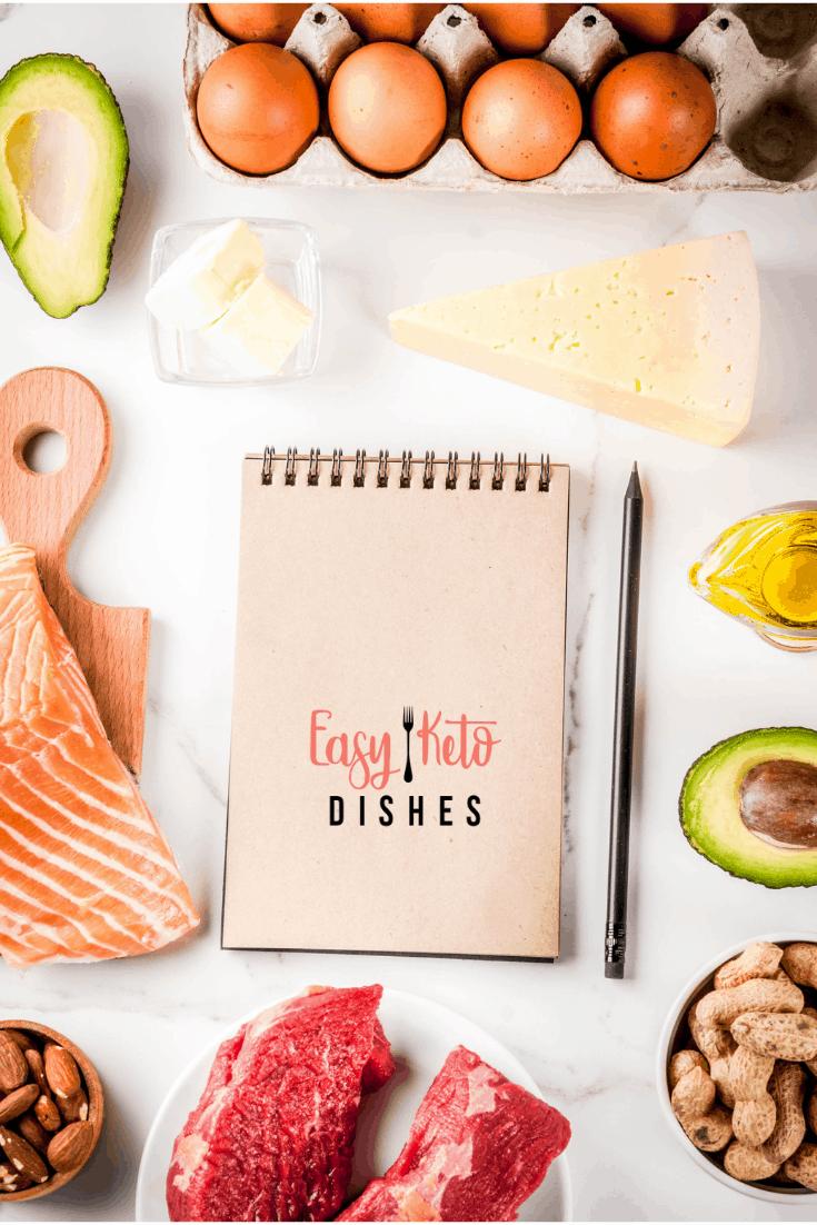 keto foods around notebook