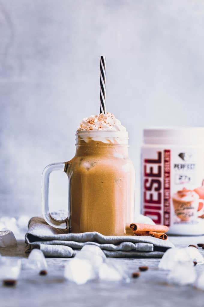 Cold Pumpkin Spice Latte Protein Shake - One Clever Chef