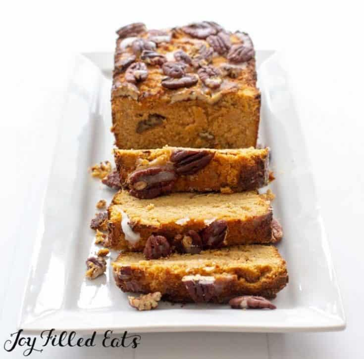 Easy Pumpkin Bread Recipe with Pecans - Low Carb Keto THM S