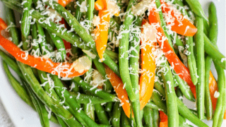Parmesan Green Beans and Peppers