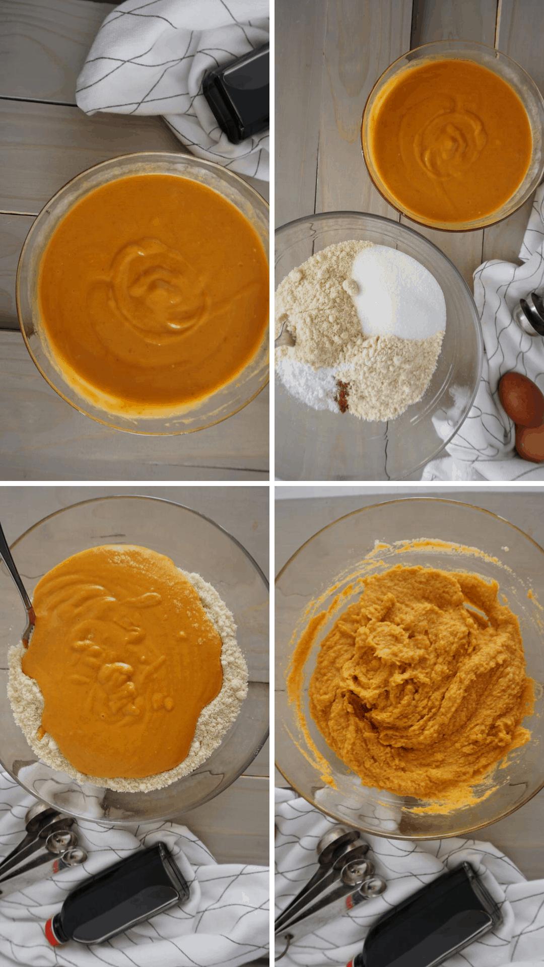 making keto pumpkin bread