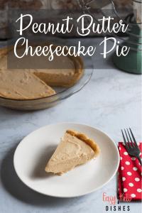 peanut butter cheesecake pie slice