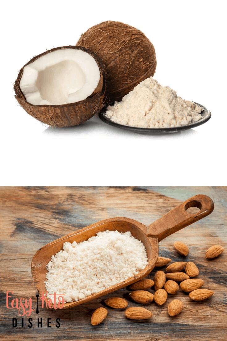 coconut flour and almond flour